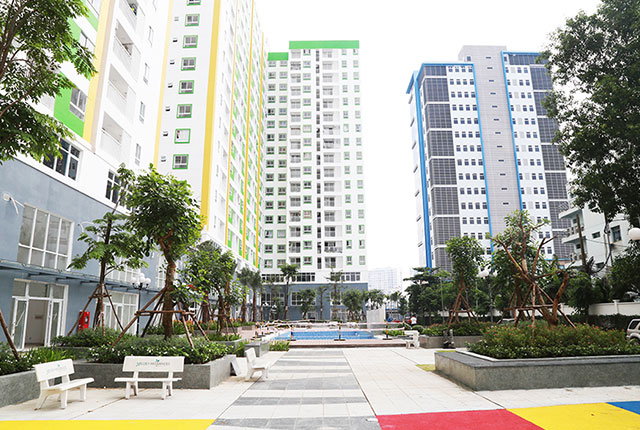 Công viên nội khu đã được hoàn thiện và đưa vào phục vụ cho cư dân