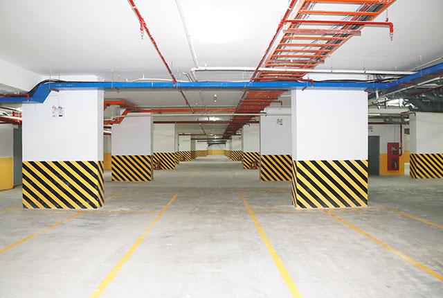 Hệ thống hầm giữ xe đã được hoàn thiện và đưa vào phục vụ cho cư dân