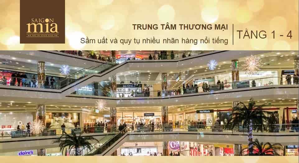 Trung tam thuong mai Saigon mia