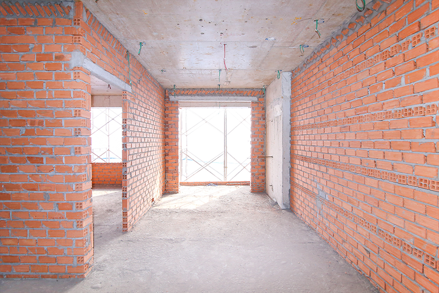 Thi công tường bao căn hộ tầng 2 – 23 Block Central
