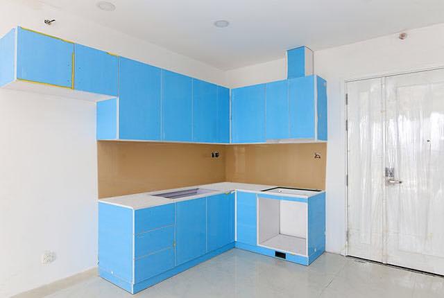 Thi công lắp đặt tủ bếp căn hộ tầng 5 - 17 block Central