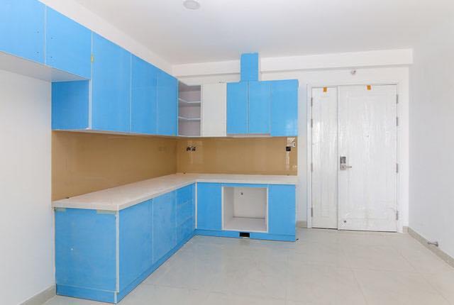 Thi công lắp đặt tủ bếp căn hộ tầng 5 - 19 block Southern