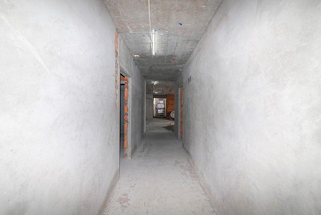Tô tường hành lang căn hộ tầng 22 block Northern