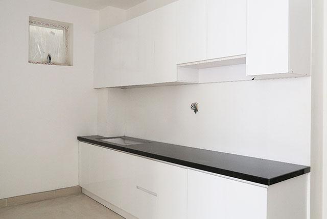 Lắp đặt tủ bếp căn hộ tầng 17 block A, B