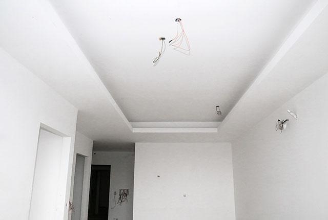 Tiếp tục thi công khung trần thạch cao tầng 12 block A, B