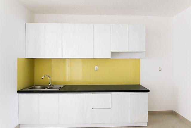 Lắp đặt tủ bếp căn hộ tầng 18 block A, B
