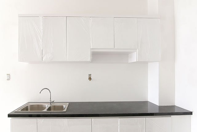 Lắp đặt tủ bếp căn hộ tầng 18 block C