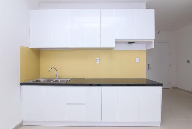 Hoàn thành lắp đặt tủ bếp căn hộ block A, B