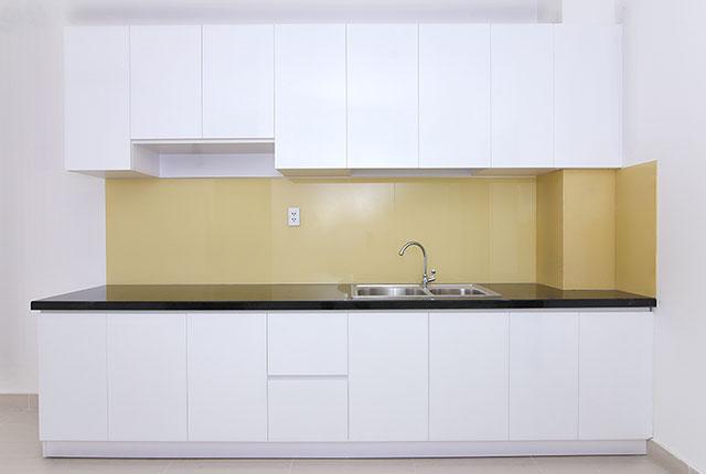 Hoàn thành lắp đặt tủ bếp căn hộ block C