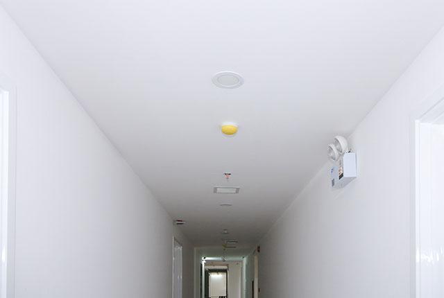 Lắp đặt hệ thống báo cháy hành lang căn hộ block A, B