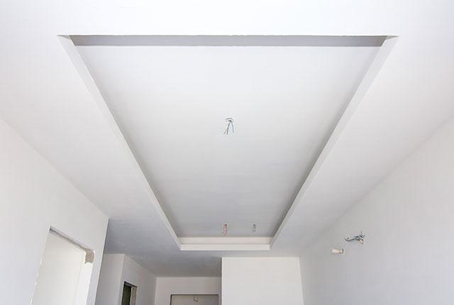 Thi công khung trần thạch cao căn hộ tầng 20 block A