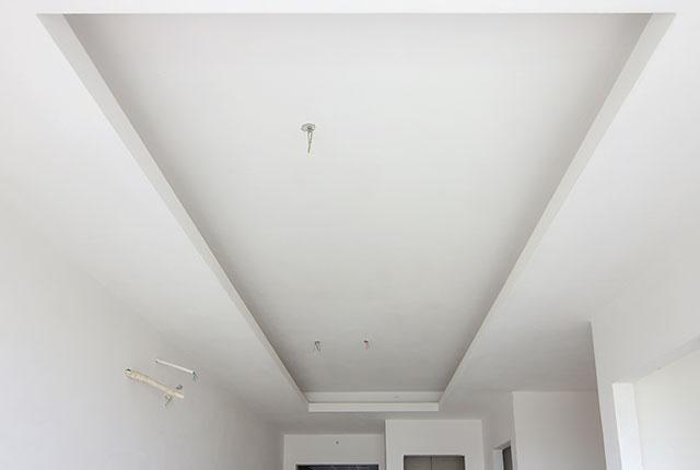 Thi công khung trần thạch cao căn hộ tầng 20 block B