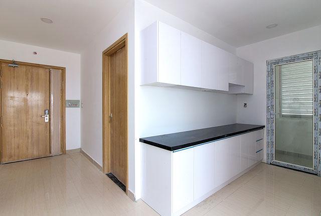 Lắp đặt tủ bếp căn hộ tầng 5 - 13 block A