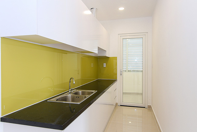 Hoàn thành lắp đặt tủ bếp căn hộ block A