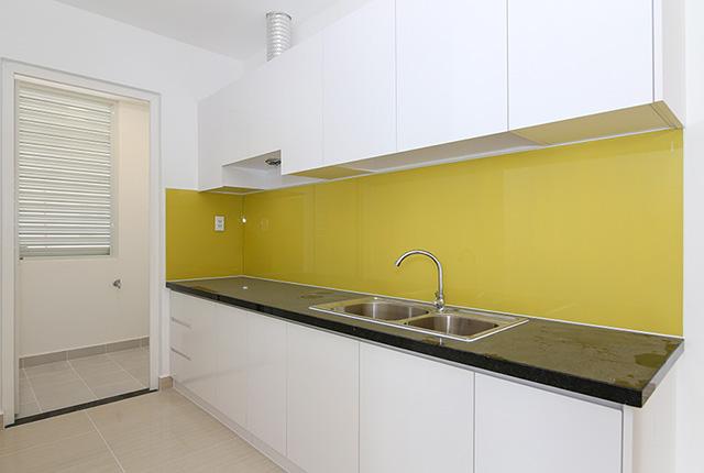 Hoàn thành lắp đặt tủ bếp căn hộ block B