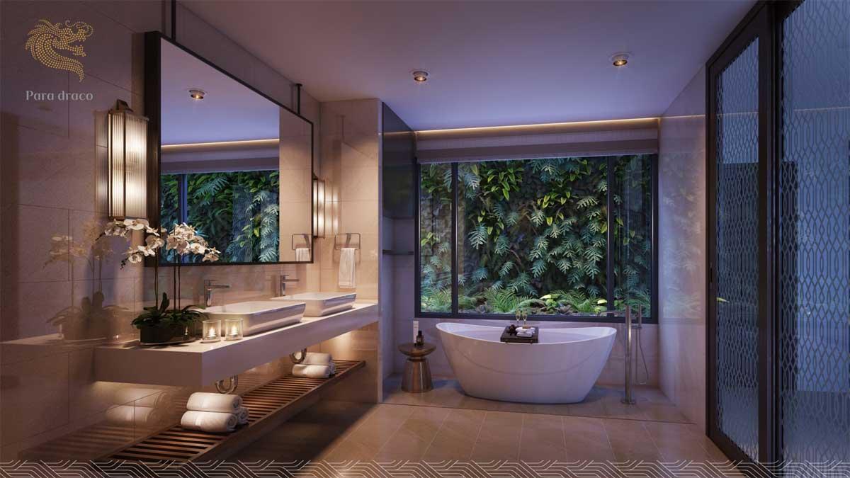 Phòng Tắm Biệt Thự Biển Para Draco