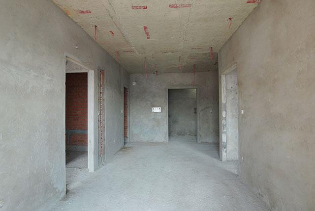 Thi công tô tường căn hộ tầng 21 - 22 block B2