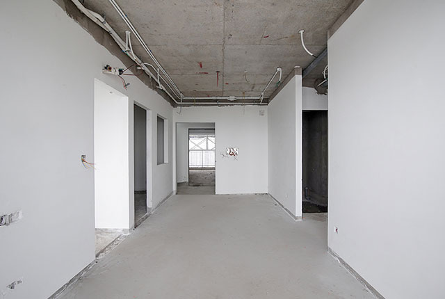 Thi công bả sơn matit căn hộ tầng 15 - 22 block B1