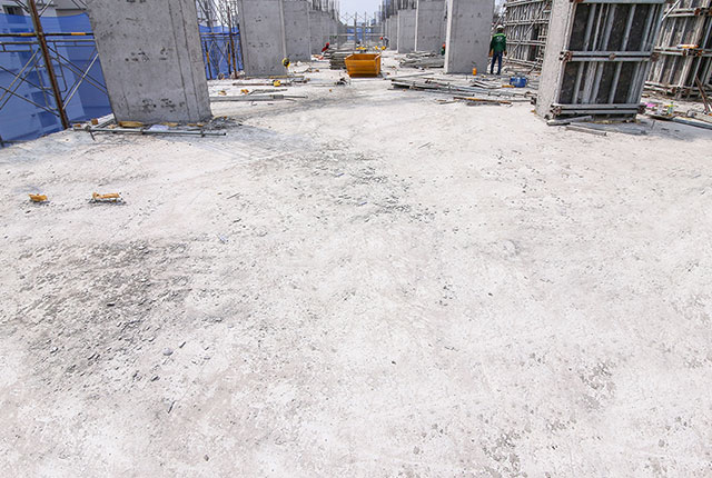 Hoàn thành đổ bê tông sàn tầng 10 block Glory