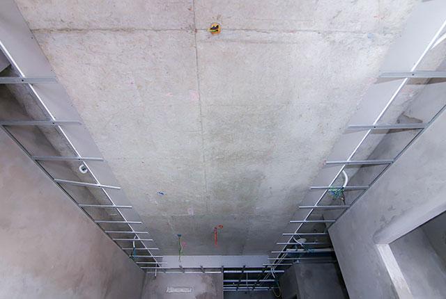 Đóng khung trần thạch cao từ tầng 5 đến tầng 9 block Glory