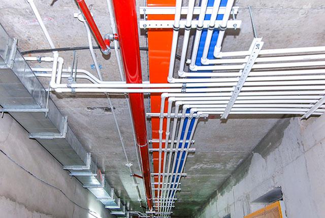 Công tác thi công M&E từ tầng 5 đến tầng 10 block Glory