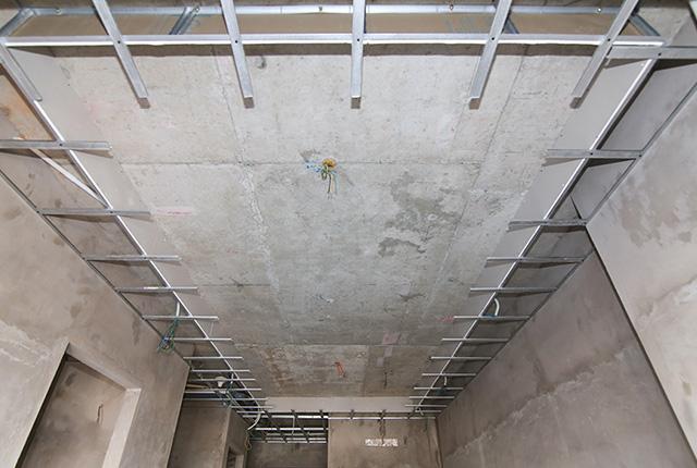 Đóng khung trần thạch cao từ tầng 5 đến tầng 12 block Glory