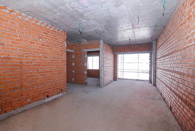 Xây tường bao căn hộ từ tầng 5 đến tầng 22 block Glory