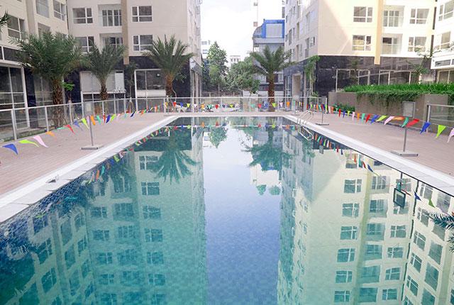 Hồ bơi trung tâm đã hoàn thiện