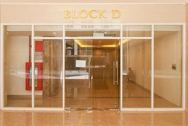 Khu vực sảnh đón block D đã hoàn thiện
