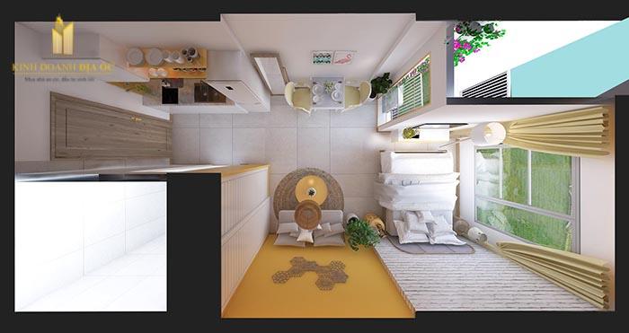 thiết kế nội thất căn hộ studio vinhomes quận 9