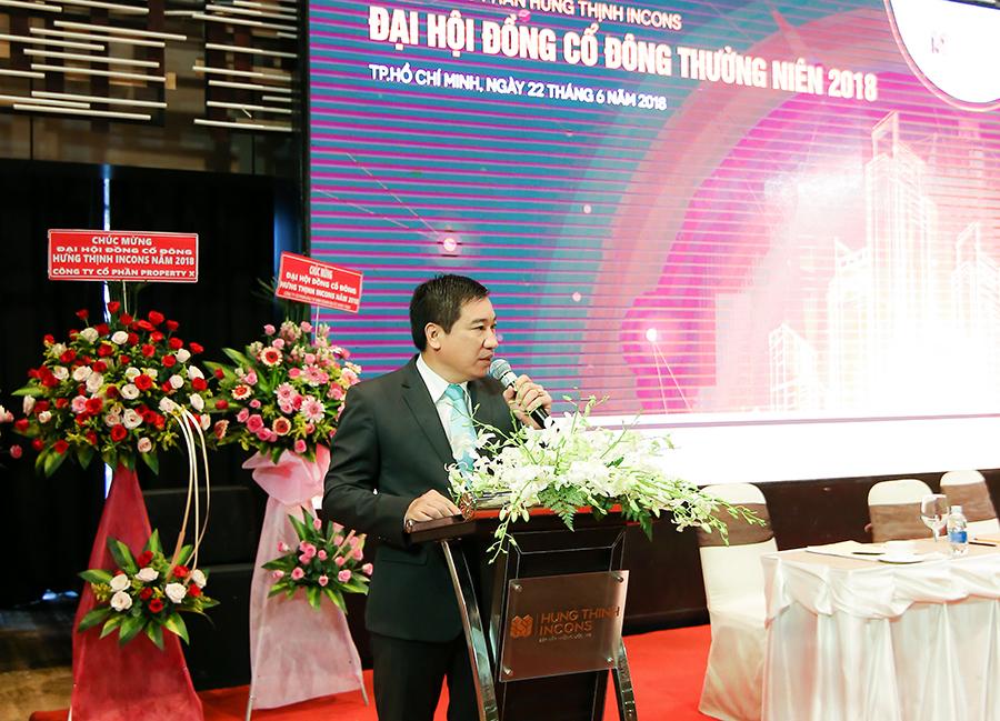Ông Nguyễn Đình Trung – Chủ tịch Hội đồng quản trị phát biểu tổng kết và bế mạc Đại hội