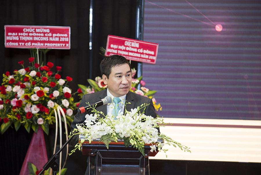 Ông Nguyễn Đình Trung – Chủ tịch Hội đồng quản trị phát biểu khai mạc Đại hội