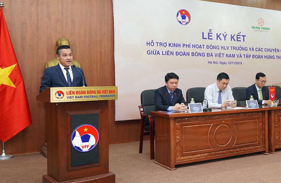 Ông Nguyễn Văn Cường – Phó Chủ tịch Tập đoàn Hưng Thịnh phát biểu trong lễ ký kết