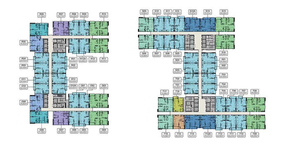 Mặt Bằng Tằng 4-18 và 20-32 Căn Hộ Vũng Tàu Pearl