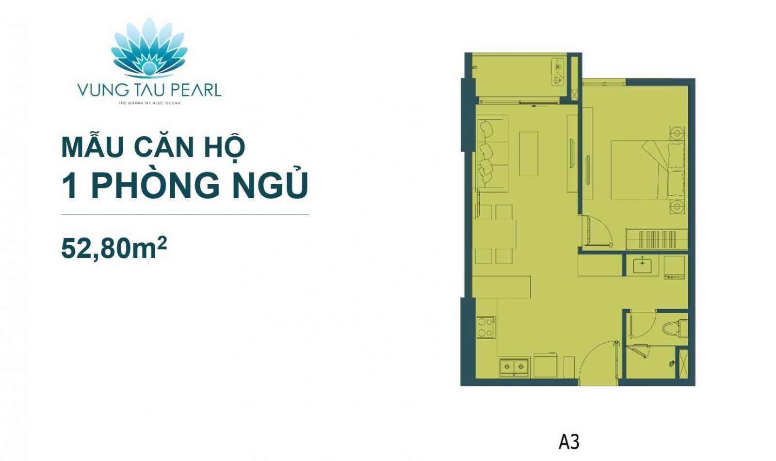 Mẫu Căn Hộ 1 Phòng Ngủ Vung Tau Pearl